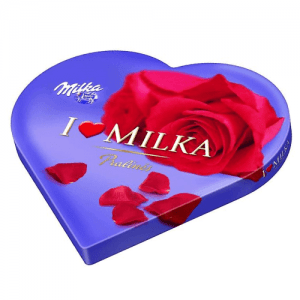 caja de bombones milka corazon